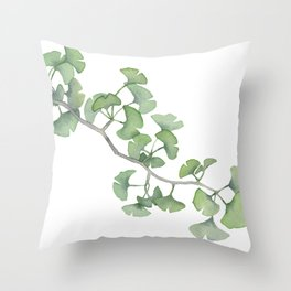 GINKGO, painting by Frank-Joseph Throw Pillow
