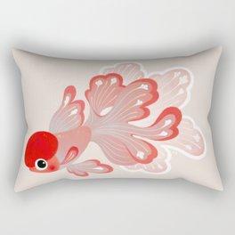 Red cap Oranda Rectangular Pillow
