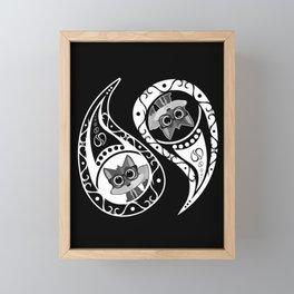Ying Yang - Fox Nerd Framed Mini Art Print
