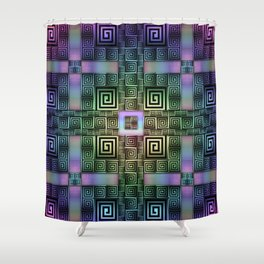 Resolve - Rainbow Variant Shower Curtain