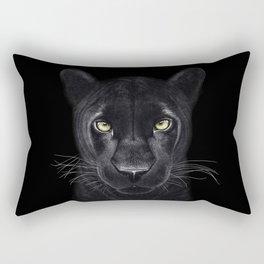 Black Panther on black Rectangular Pillow