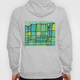 Green Frank Lloyd Wrightish Stained Glass Hoody