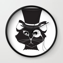 The Cat's Meow Wall Clock