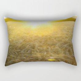 Wheat field at dawn Rectangular Pillow
