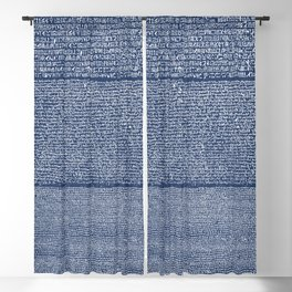The Rosetta Stone // Navy Blue Blackout Curtain