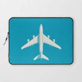 A380 Super Jumbo Jet Airliner - Cyan Laptop Sleeve