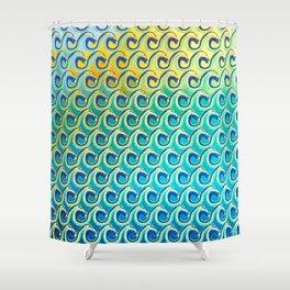 Wave Pattern Shower Curtain