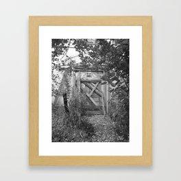 "Door to the deep down ""LIME"" Framed Art Print"