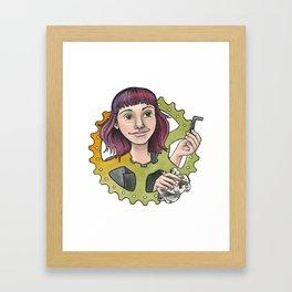 Bike Mechanic Framed Art Print