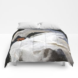 The Peaceful Swan Art Comforters