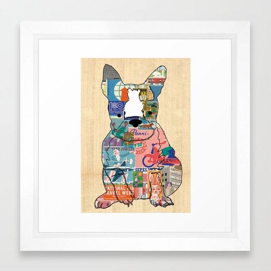 vintage matchbox dog collage poster print framed art print by