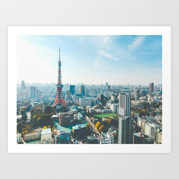 Tokyo Tower in the Morning Art Print