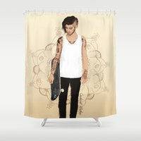 zayn Shower Curtains featuring Skater Zayn  by Coconut Wishes