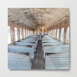Travel the world - Train Metal Print