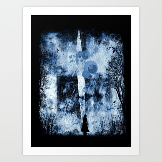 rain walker redux Art Print