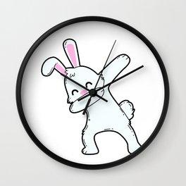 Dabbing bunny Wall Clock
