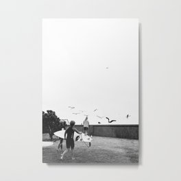 Seagulls at Sumner Metal Print