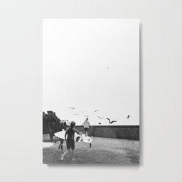 Seagulls at Sumner Metal Print
