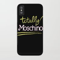 moschino iPhone & iPod Cases featuring Totally Moschino Black by RickyRicardo787