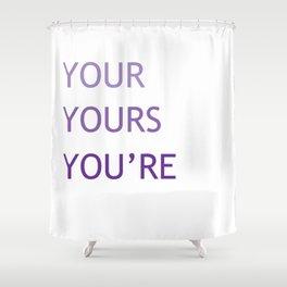 Grammar IV Shower Curtain