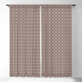 Earthy Green on Grape Vine Purple Parable to 2020 Color of the Year Back to Nature Polka Dot Grid Blackout Curtain