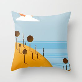 Paesaggio, illustrazione digitale, digital art Throw Pillow