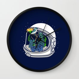 Astro Flowers Wall Clock