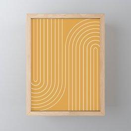 Minimal Line Curvature VIII Framed Mini Art Print