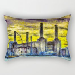 Battersea Power Station Van Gogh Rectangular Pillow