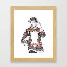 Liam Floral Framed Art Print