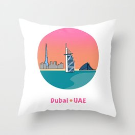Dubai, UAE  Throw Pillow