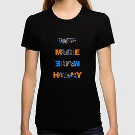 You make me Happy / Sad – reversibel T-shirt