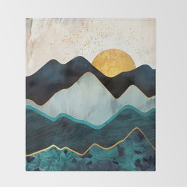Glacial Hills Throw Blanket