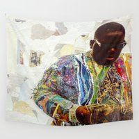 biggie Wall Tapestries featuring Biggie by Katy Hirschfeld