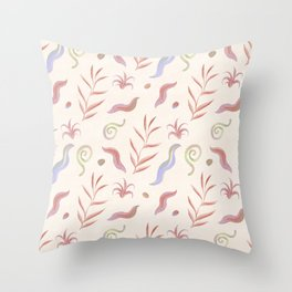 Wild Plants Pattern Throw Pillow