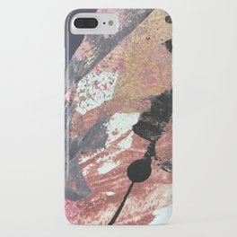 01015: colorful pink purple and gold abstract iPhone Case