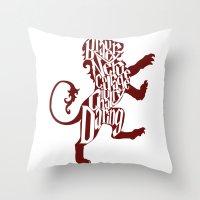 gryffindor Throw Pillows featuring Gryffindor Pride by Gabriela Michelle