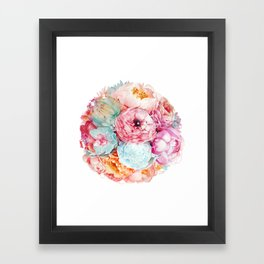 Spring Bouquet Framed Art Print