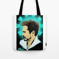 tony stark Tote Bags featuring Tony Stark. by Tomcert
