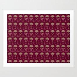 Specter and Spook's Skull Menagerie- Dusty Rose Art Print