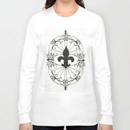 Wrought Iron Fleur de Lis Long Sleeve T-shirt