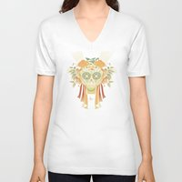 tequila V-neck T-shirts featuring TEQUILA SMILE by orlando arocena ~ olo409- Mexifunk