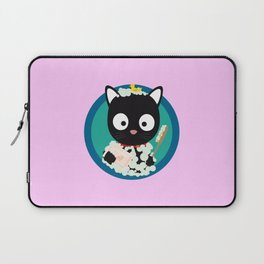 Bathing Cat with bath foam Laptop Sleeve
