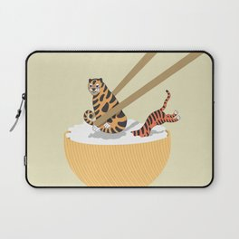 Tiger Rice with Chopstick Laptop Sleeve