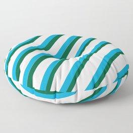 TEAM COLORS 1...LIGHT BLUE,GREEN Floor Pillow