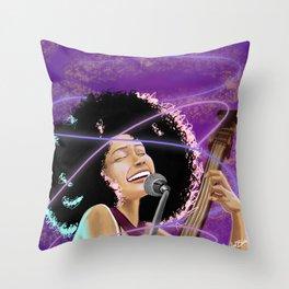 Esperanza Spaulding - Black Girl Magic Throw Pillow