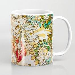 Alphonse Mucha - Woman with Daisy Coffee Mug