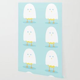 Halloween chick in ghost costume Wallpaper