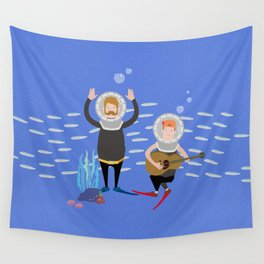 Music in the ocean Wall Tapestry
