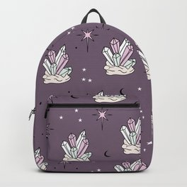 Trust the universe boho magic gem stones stars and moon purple girls Backpack
